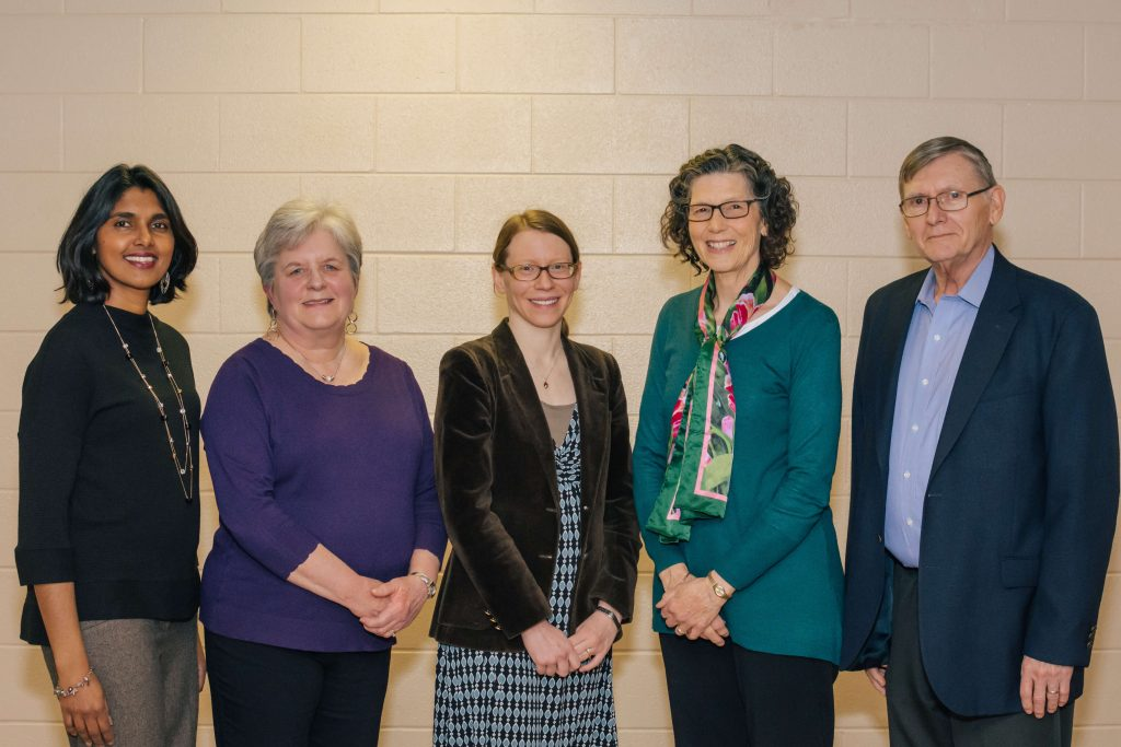 Our Board: Charmari Downing, Sue Langhoff, Salena Anderson, Lucy Hrivnak, Perry Riffel